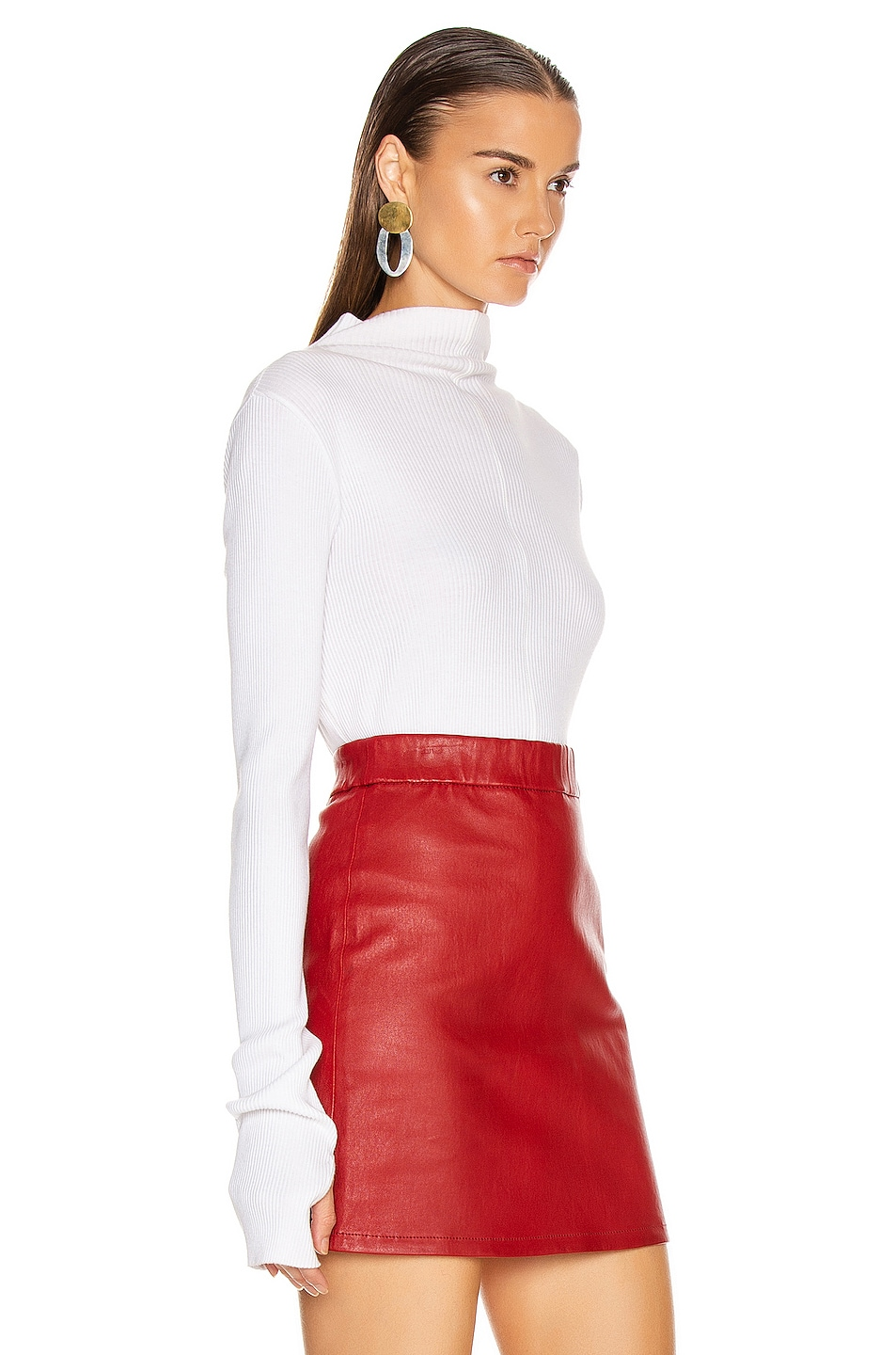Image 2 of Helmut Lang High Neck Rib Top in White