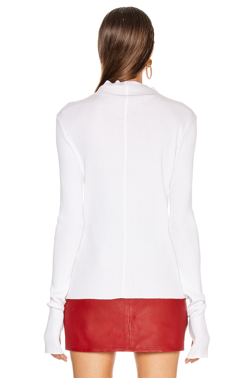 Image 3 of Helmut Lang High Neck Rib Top in White