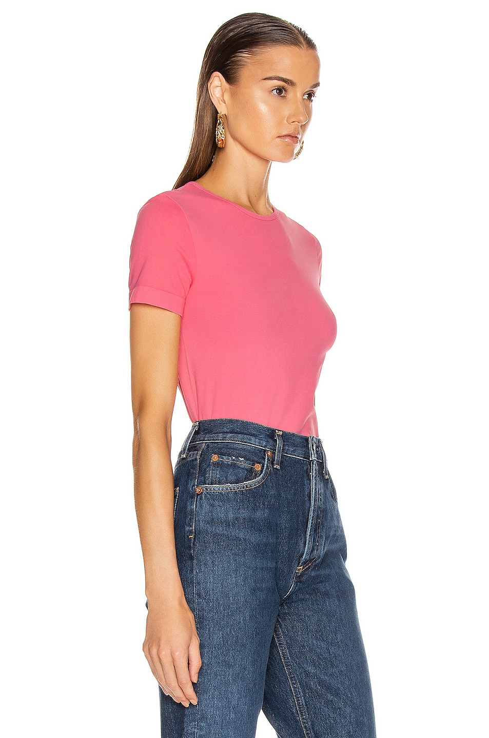 Image 2 of Helmut Lang Seamless Baby Tee in Prism Pink