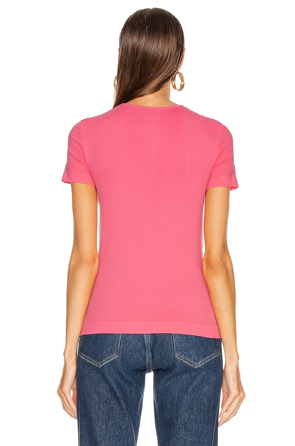 Image 3 of Helmut Lang Seamless Baby Tee in Prism Pink