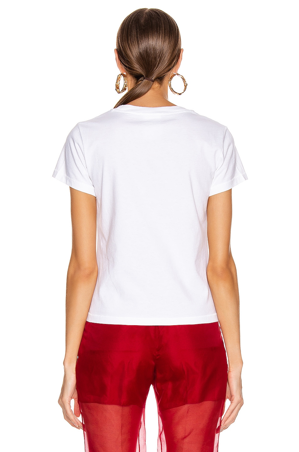 Image 3 of Helmut Lang Standard Valentine Baby Tee in Chalk White