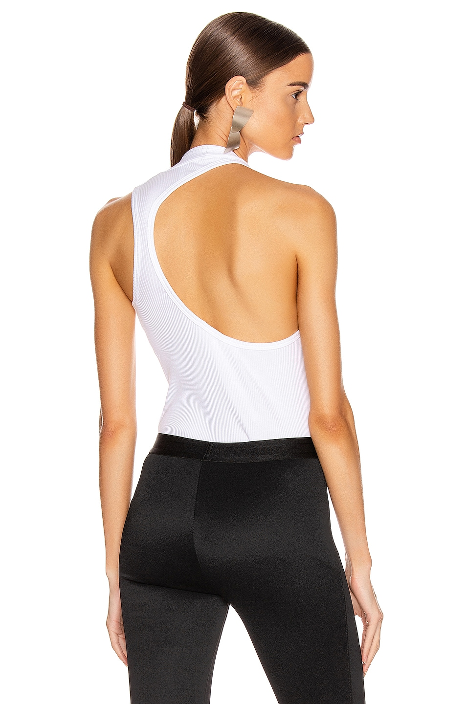 Image 1 of Helmut Lang Pulled Rib Tank Top in White