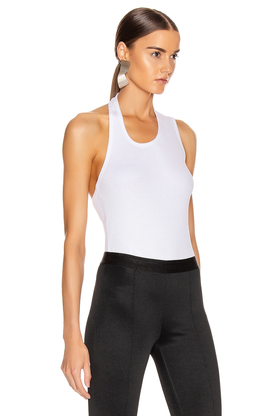 Image 3 of Helmut Lang Pulled Rib Tank Top in White