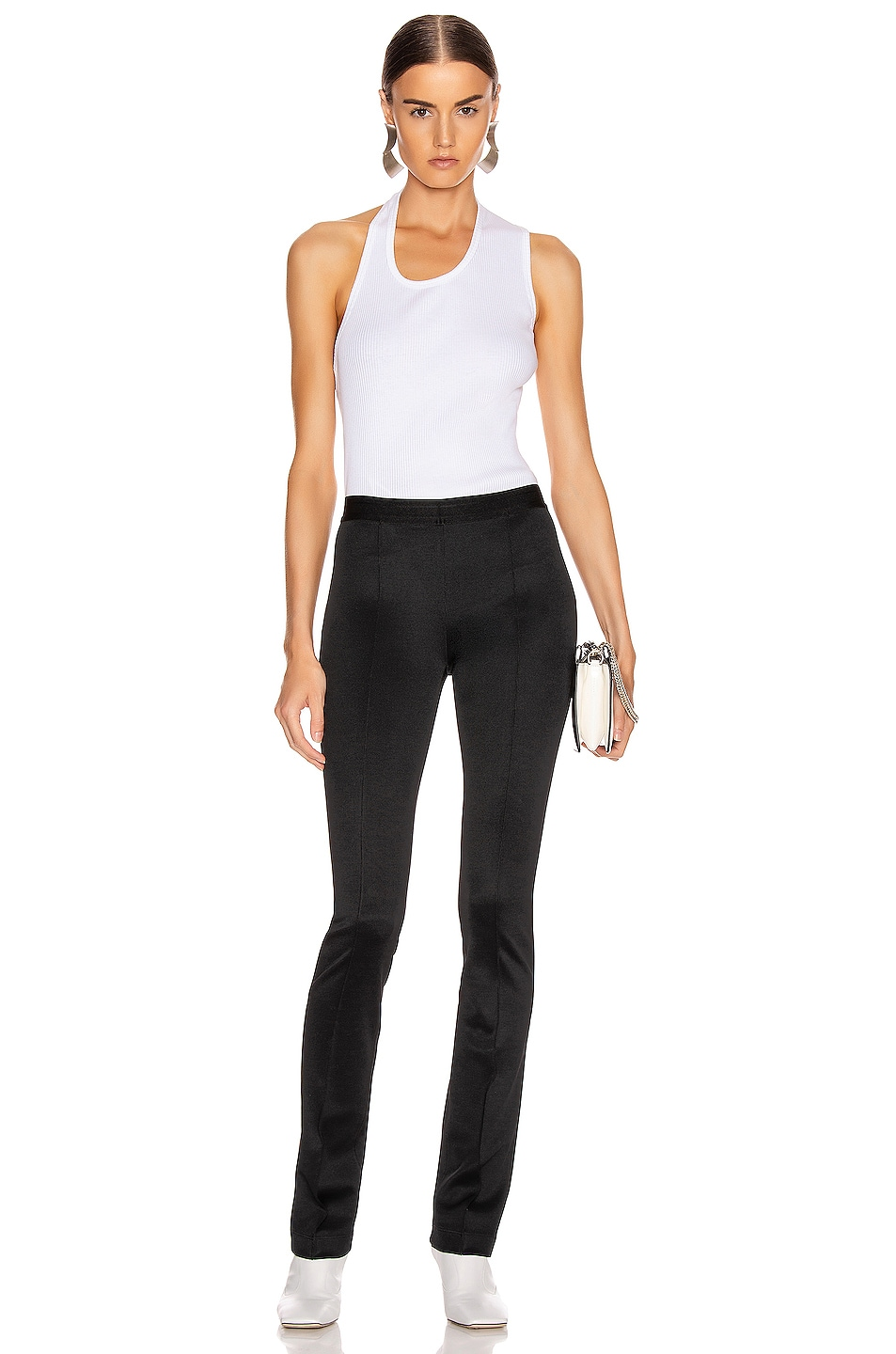 Image 5 of Helmut Lang Pulled Rib Tank Top in White
