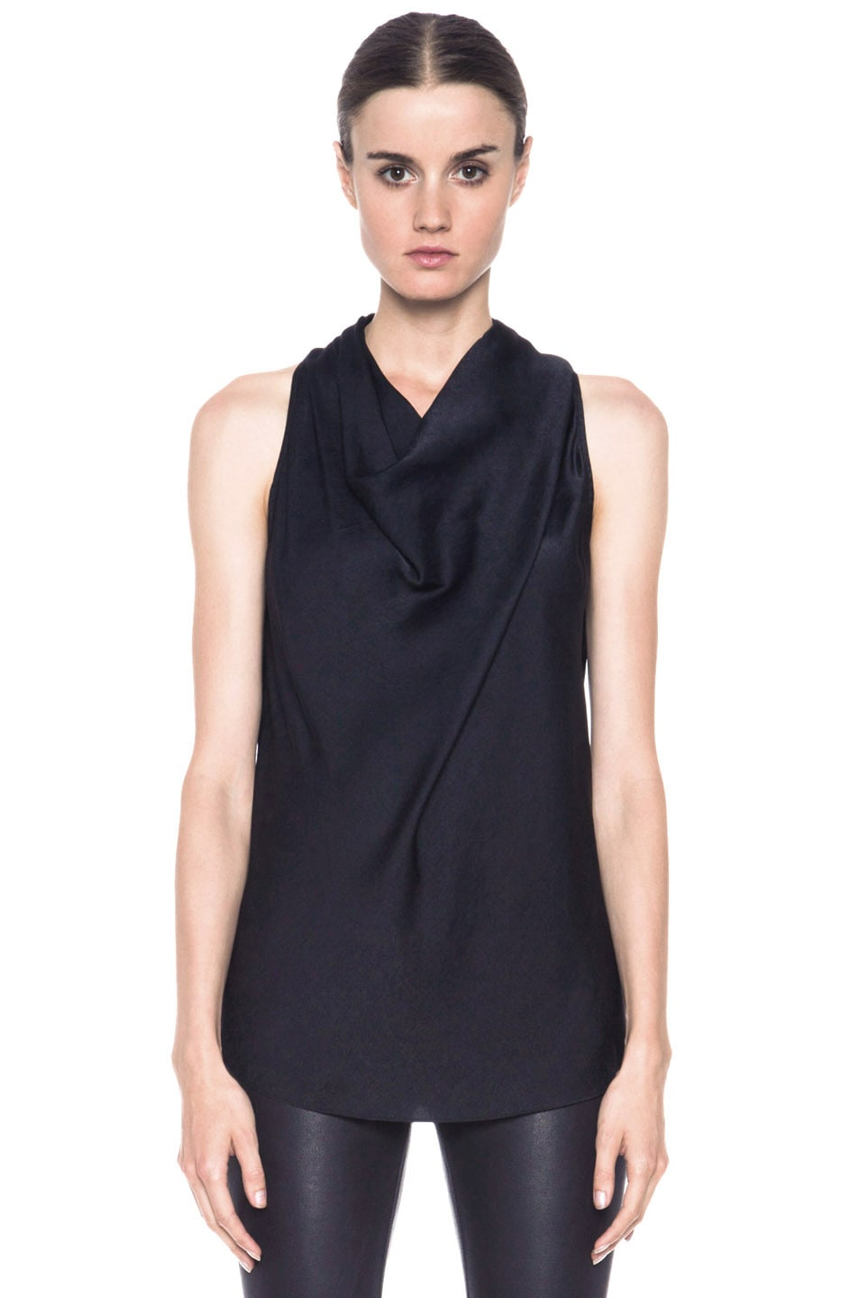 c5fa663b6e230 Image 1 of Helmut Lang Coma High Neck Poly Top in Black