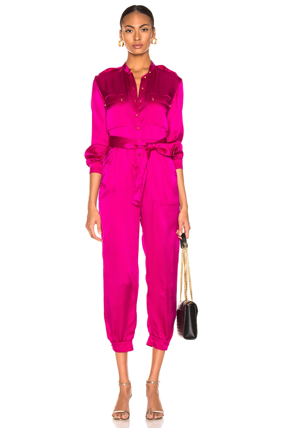 Image 1 of HANEY Lauren Jumpsuit in Magenta
