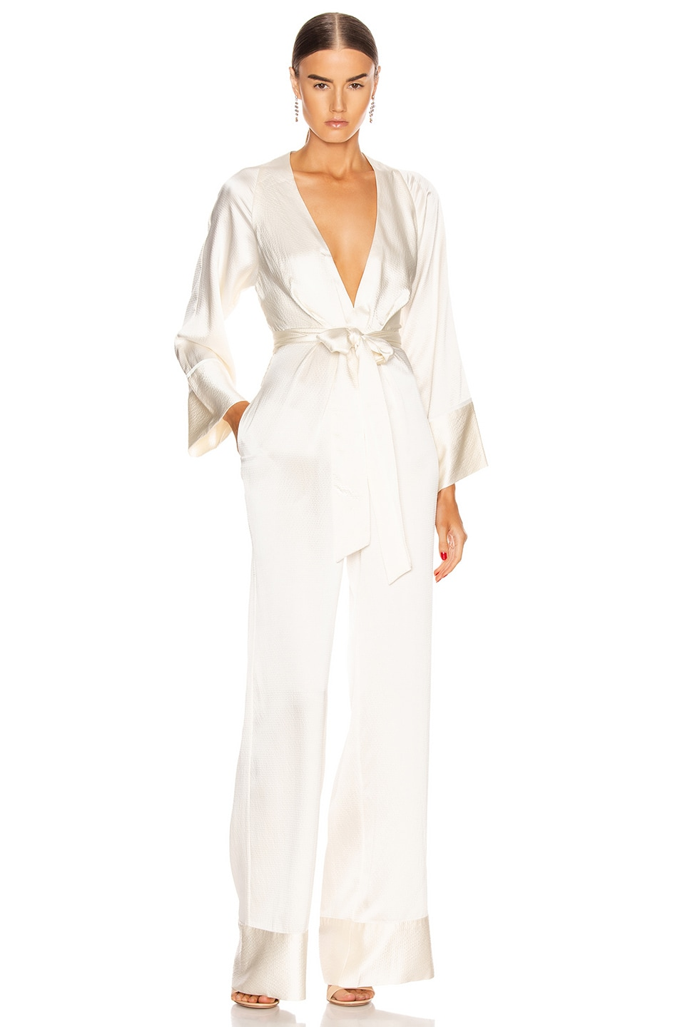 Image 1 of HANEY Blythe Jumpsuit in Ivory