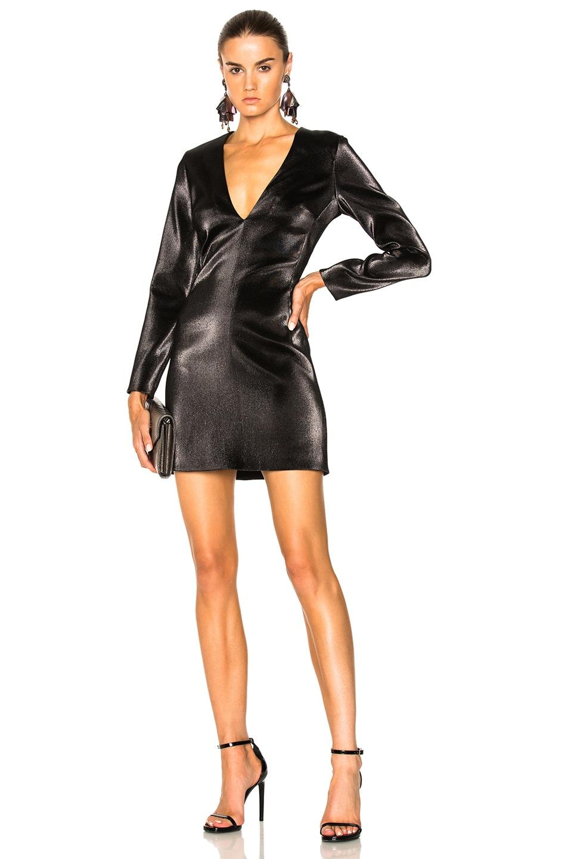 HANEY Hailey Dress in Black,Metallics