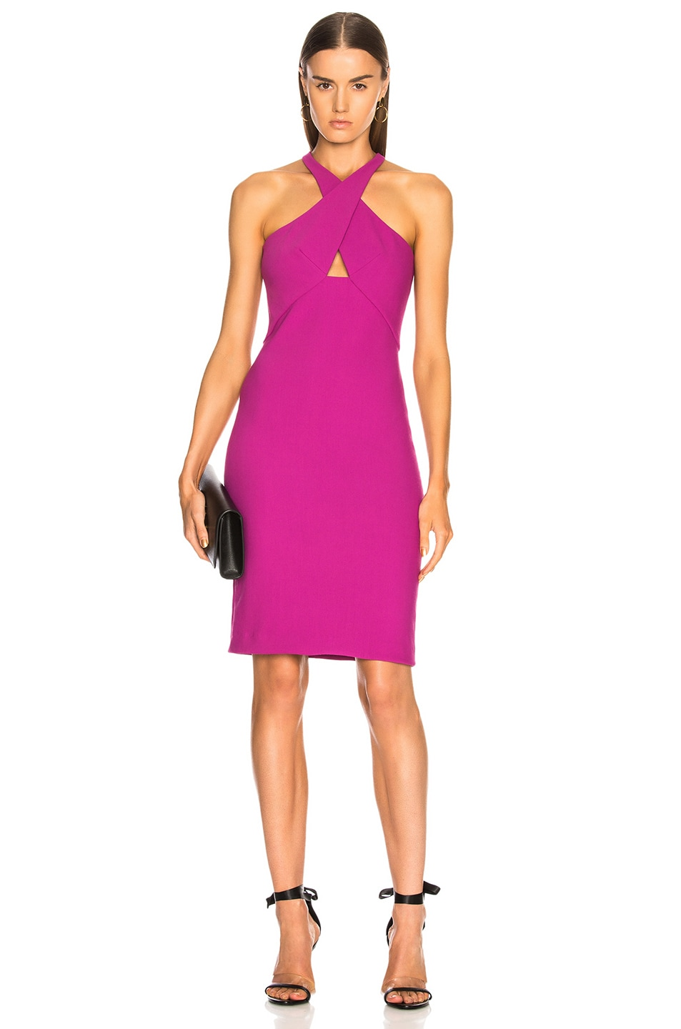 Image 1 of HANEY for FWRD Milly Dress in Fuchsia