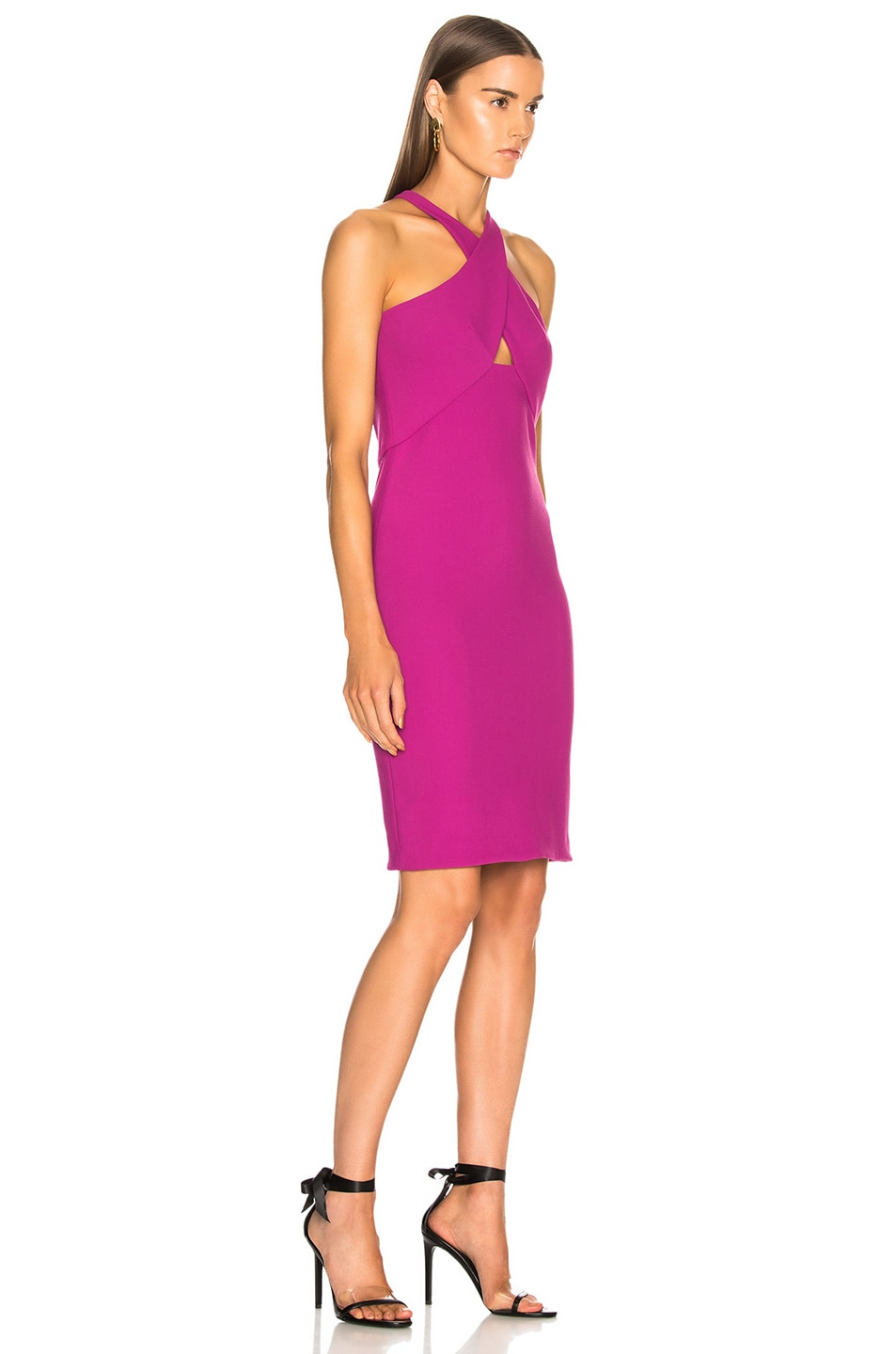 Image 2 of HANEY for FWRD Milly Dress in Fuchsia