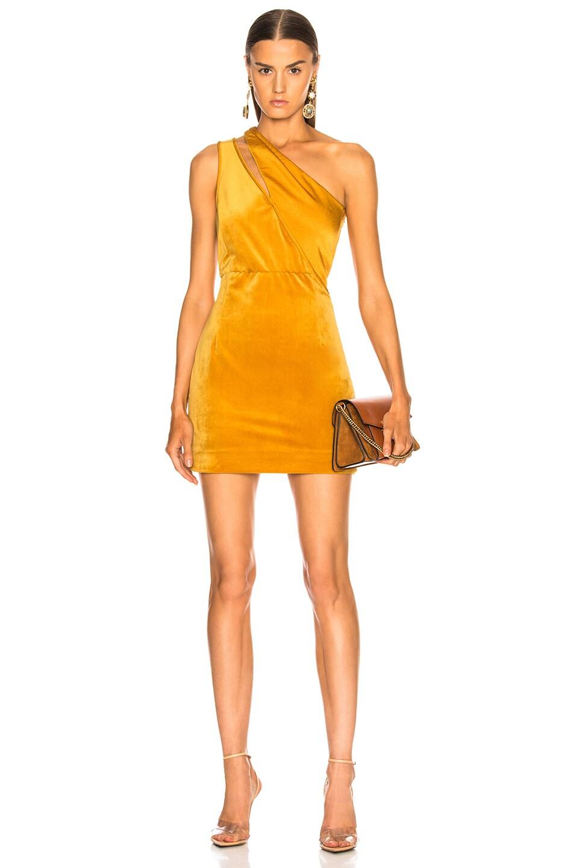 Image 1 of HANEY Yara Dress in Marigold Velvet