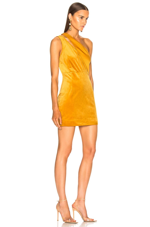 Image 2 of HANEY Yara Dress in Marigold Velvet