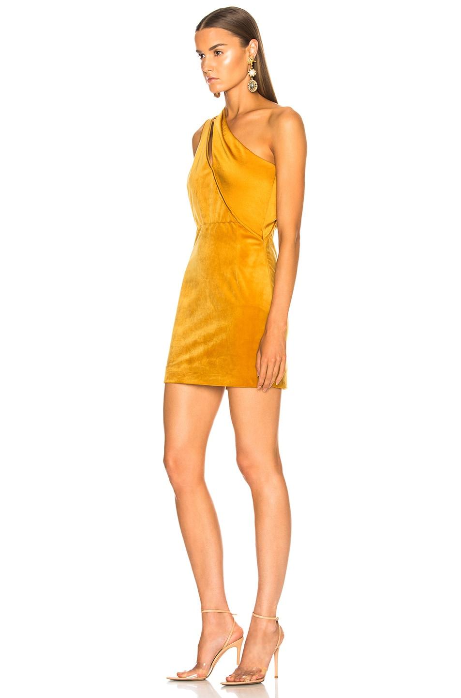 Image 3 of HANEY Yara Dress in Marigold Velvet