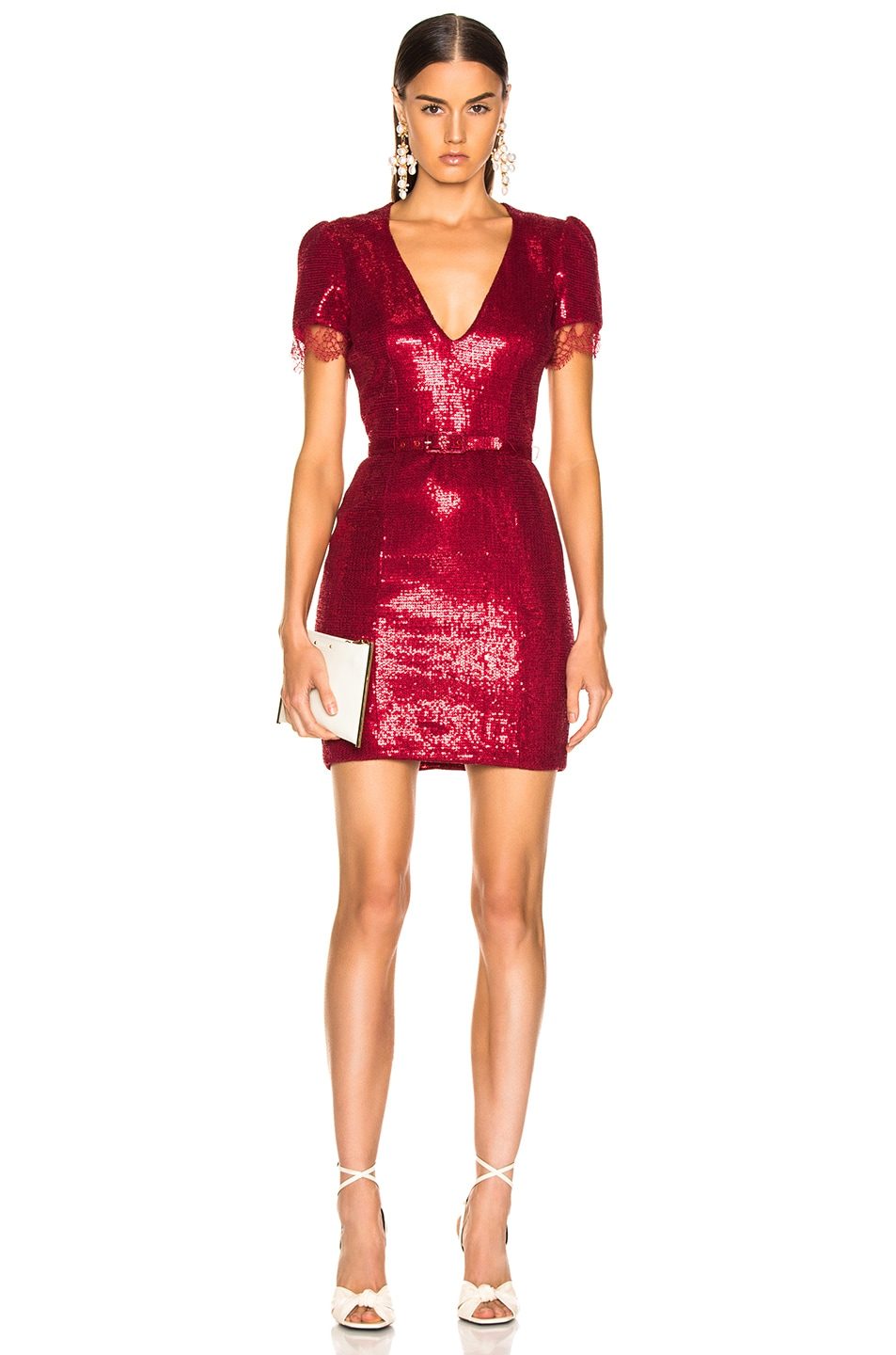 Image 1 of HANEY Lyz Dress in Crimson Red