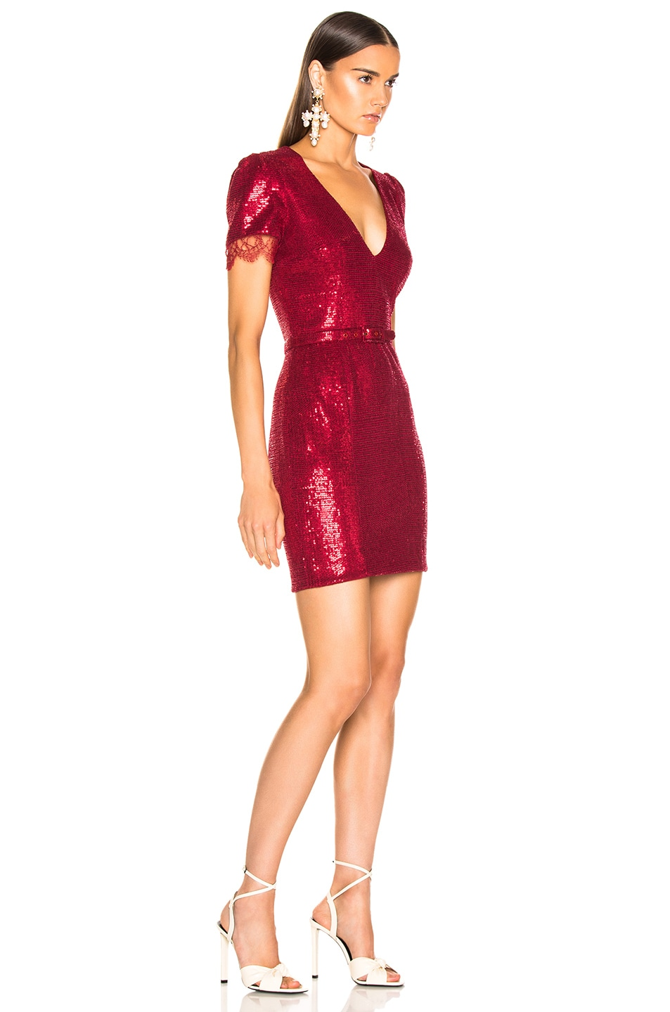 Image 2 of HANEY Lyz Dress in Crimson Red