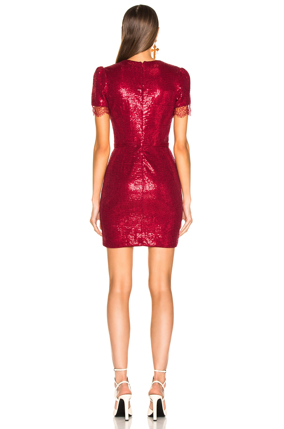 Image 3 of HANEY Lyz Dress in Crimson Red