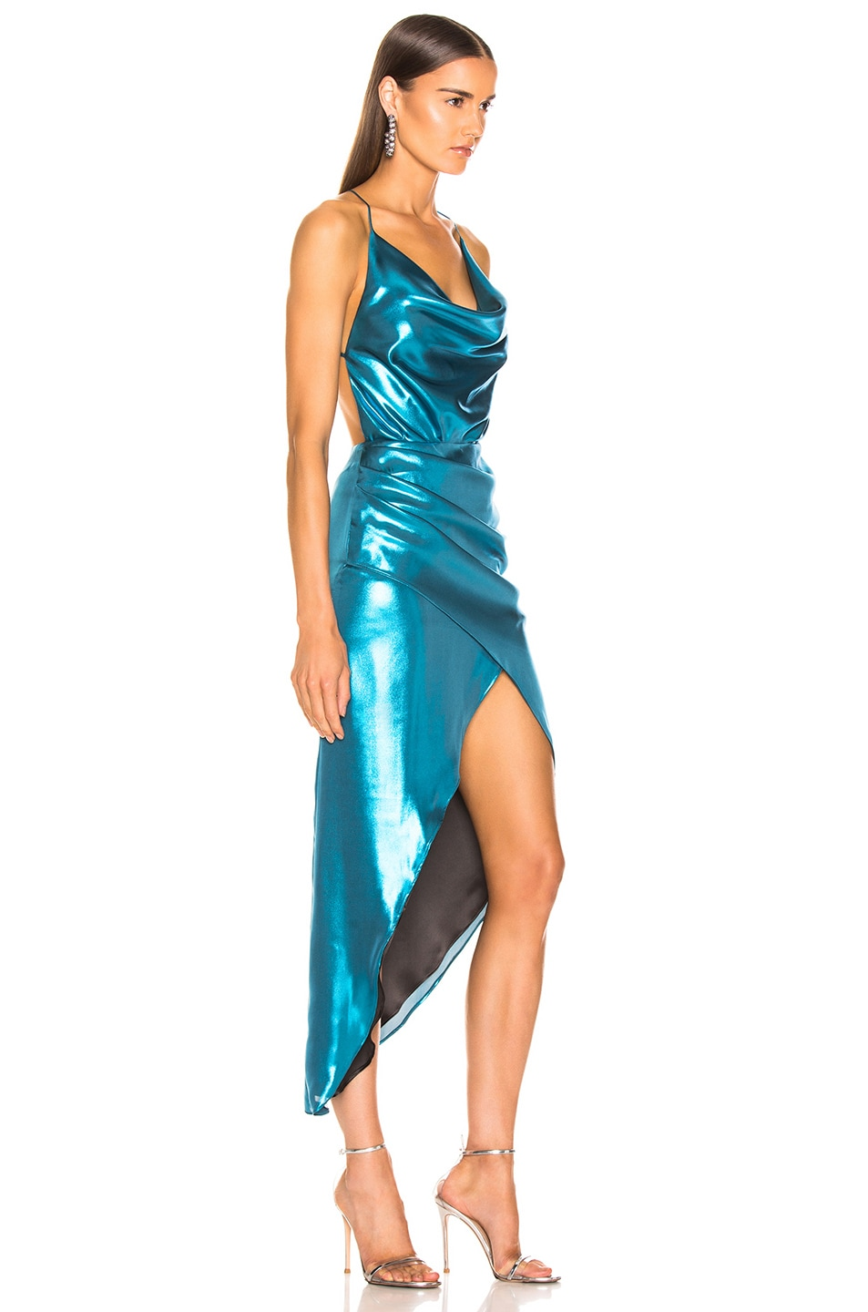 Image 2 of HANEY Holly Dress in Turquoise