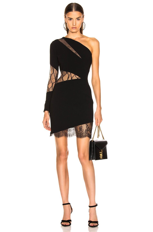 Image 1 of HANEY Talia Dress in Black & Nude