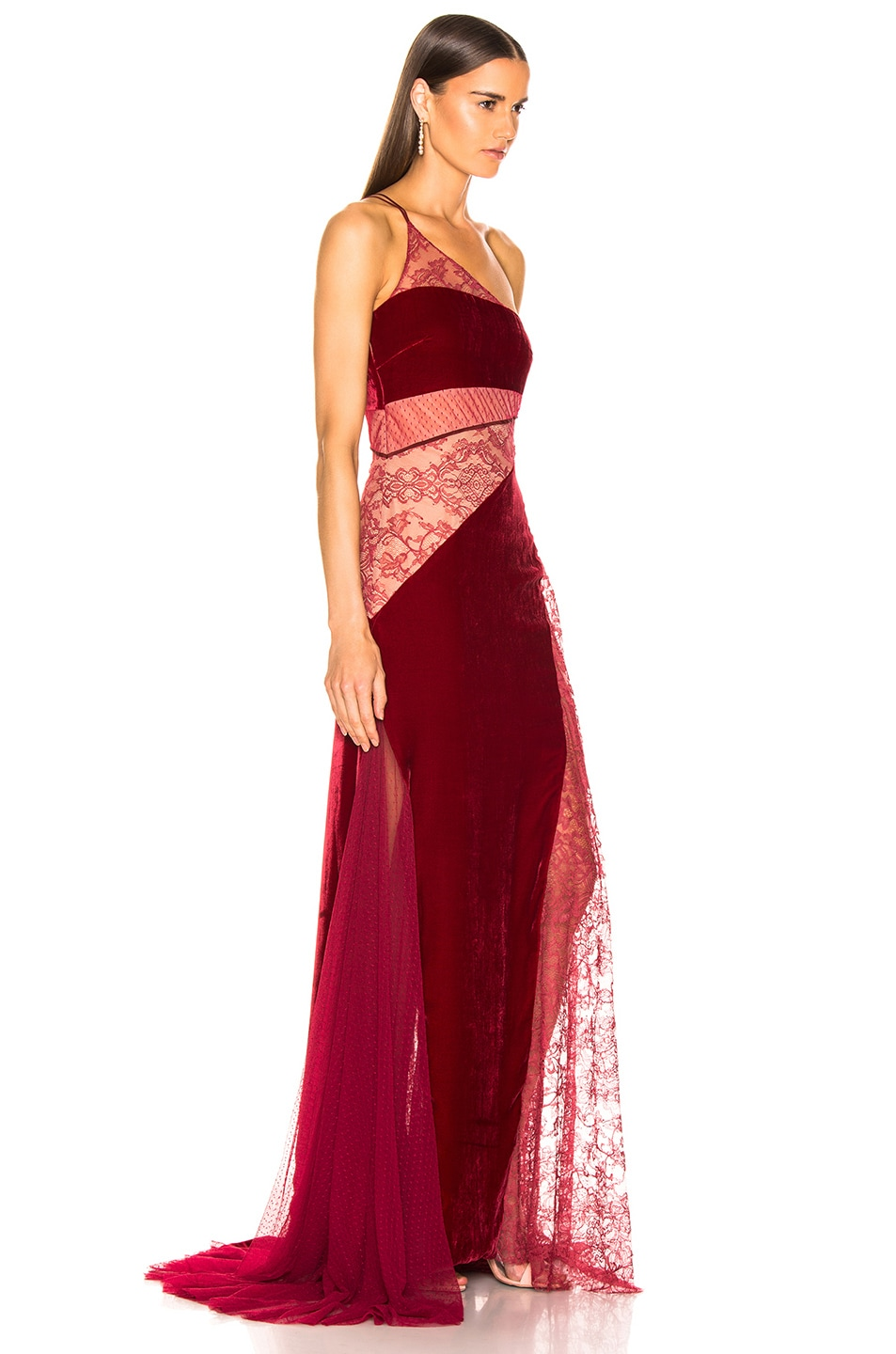 Image 2 of HANEY Liliana Gown in Merlot & Burgundy