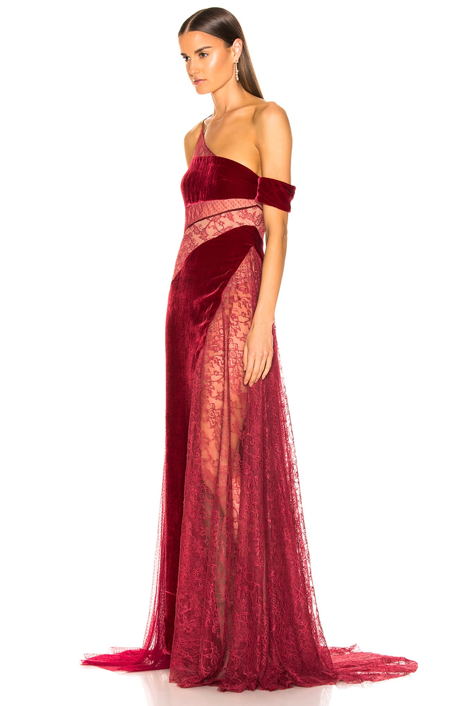 Image 3 of HANEY Liliana Gown in Merlot & Burgundy