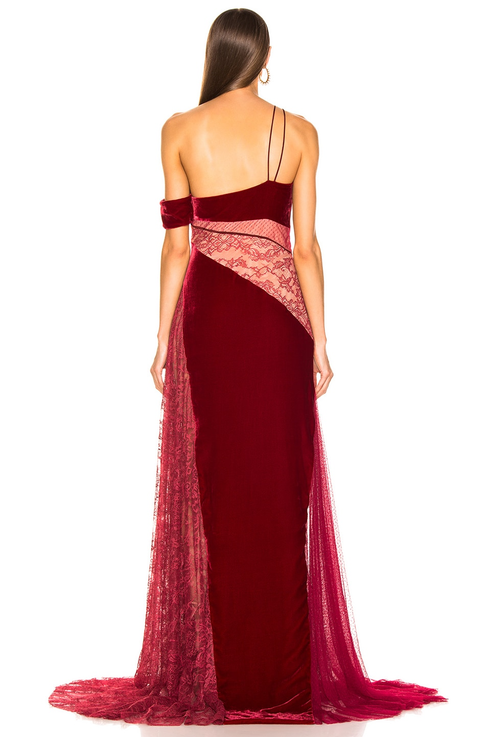 Image 4 of HANEY Liliana Gown in Merlot & Burgundy