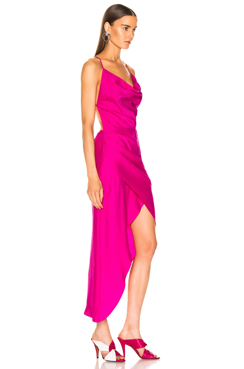 Image 2 of HANEY Holly Dress in Hot Pink