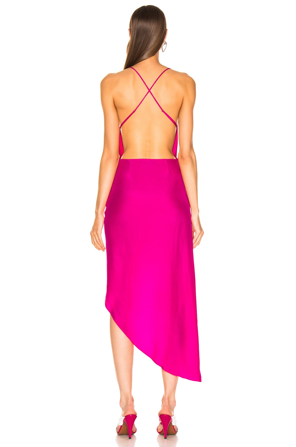 Image 4 of HANEY Holly Dress in Hot Pink