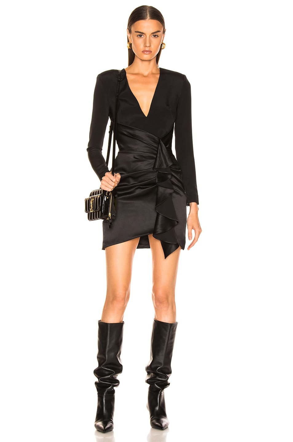 Image 1 of HANEY for FWRD Lilly Dress in Black
