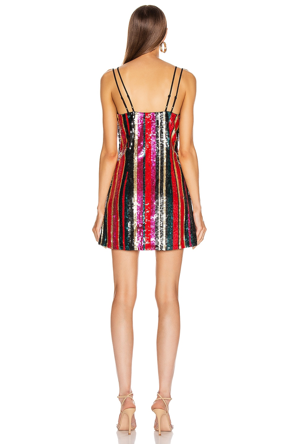 Image 3 of HANEY Elektra Mini Slip Dress in Multi Sequin