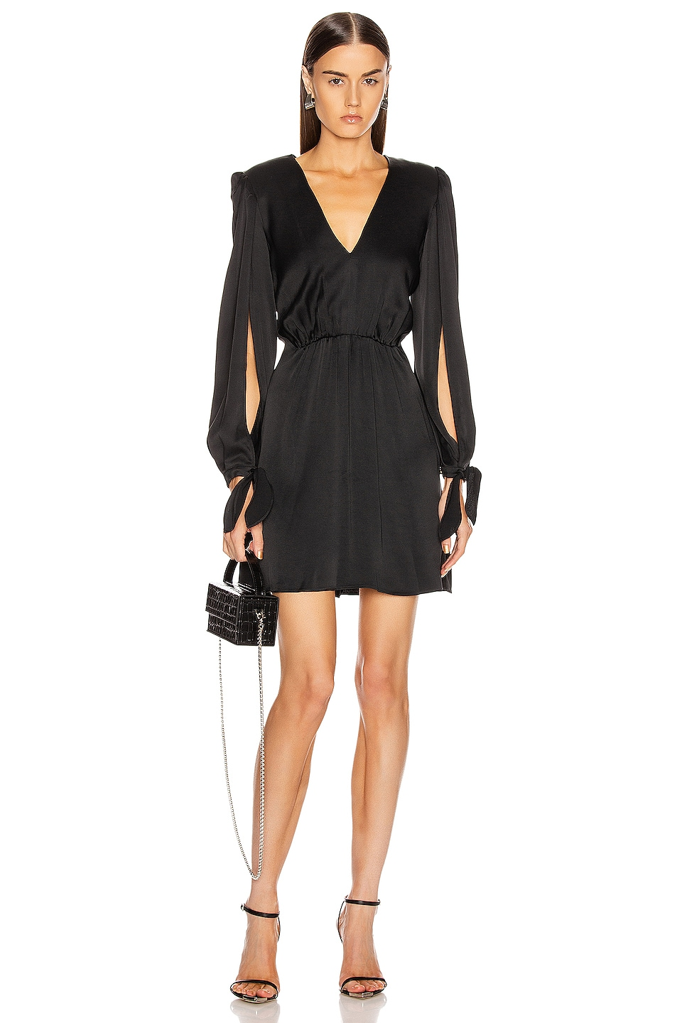 Image 1 of HANEY Joplin V Neck Dress in Black
