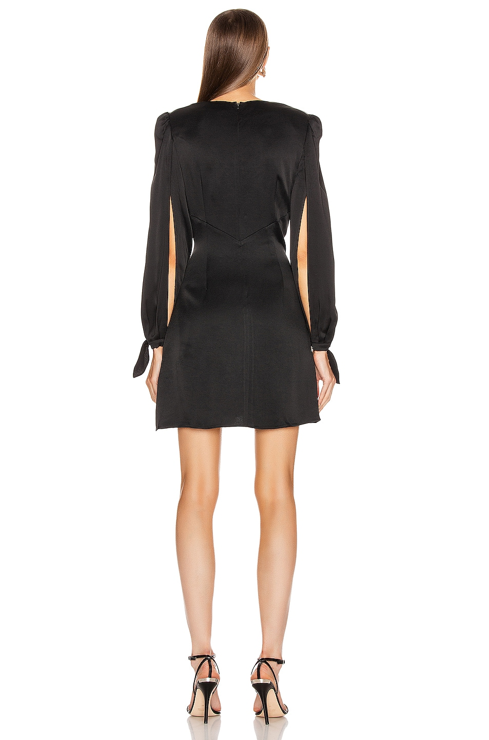 Image 3 of HANEY Joplin V Neck Dress in Black