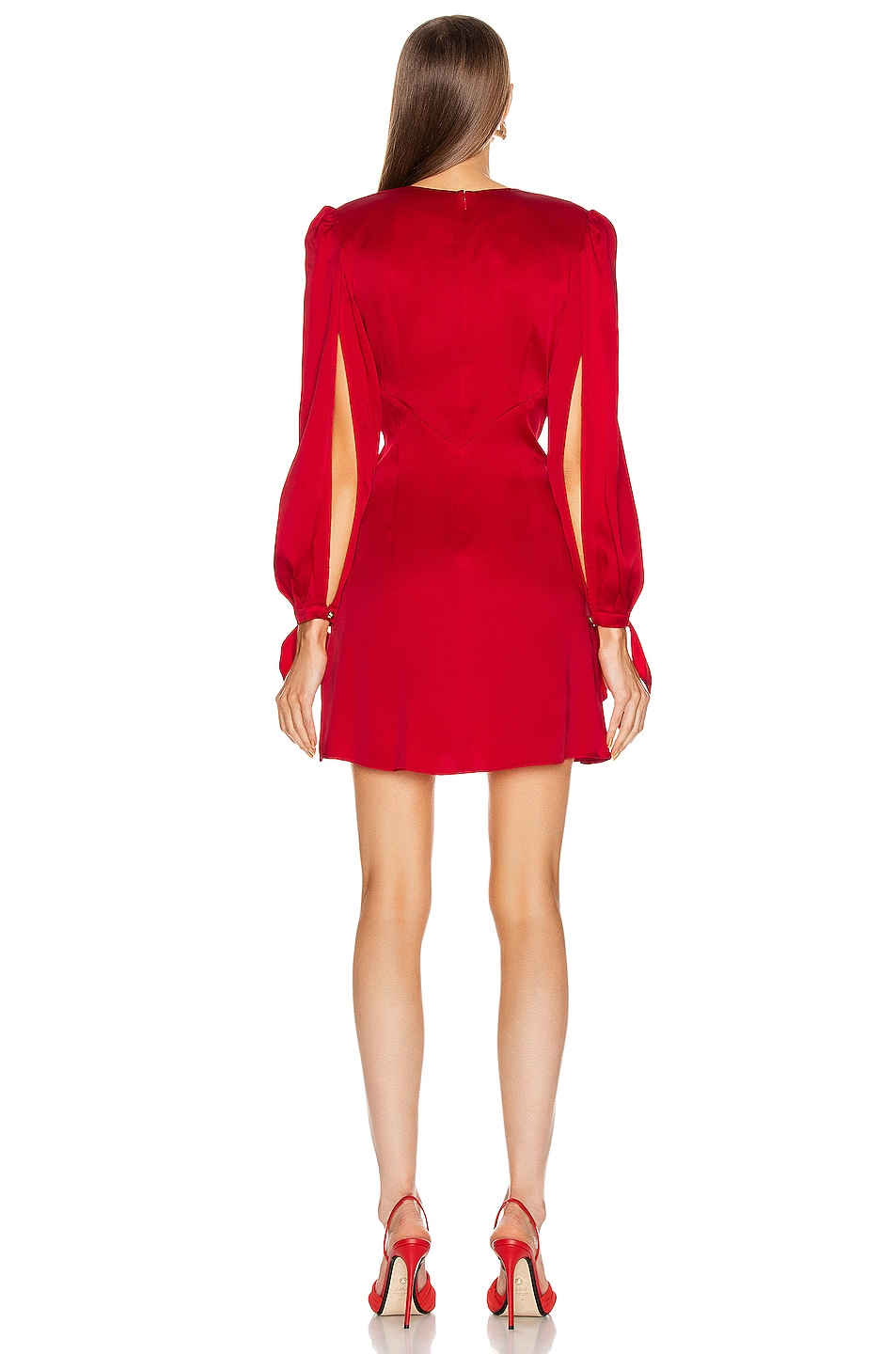 Image 3 of HANEY Joplin V Neck Dress in Red