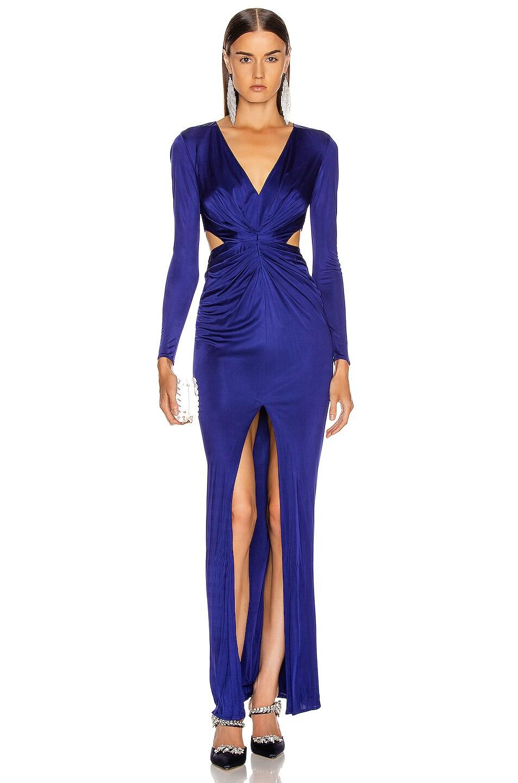 Image 1 of HANEY Erin Jersey Gown in Cobalt