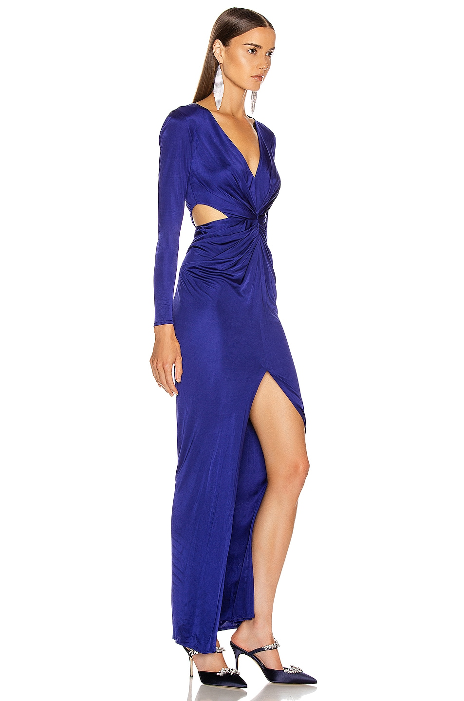 Image 2 of HANEY Erin Jersey Gown in Cobalt