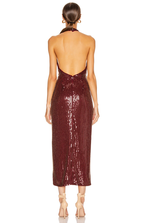 Image 3 of HANEY Aurora Sequin Dress in Garnet & Gold