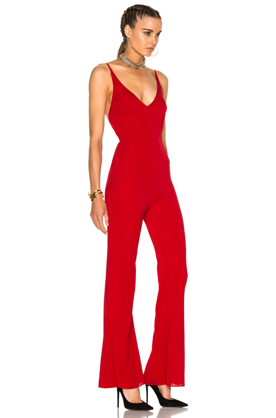 Image 3 of HANEY for FWRD Gloria Jumpsuit in Red
