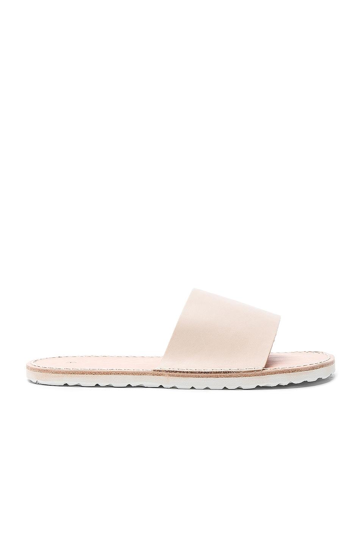 Image 1 of Hender Scheme Leather Slide Sandals in Natural