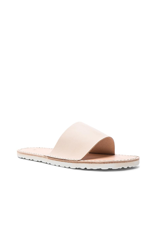 Image 2 of Hender Scheme Leather Slide Sandals in Natural