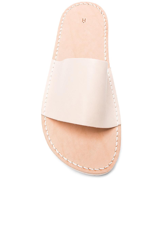 Image 4 of Hender Scheme Leather Slide Sandals in Natural