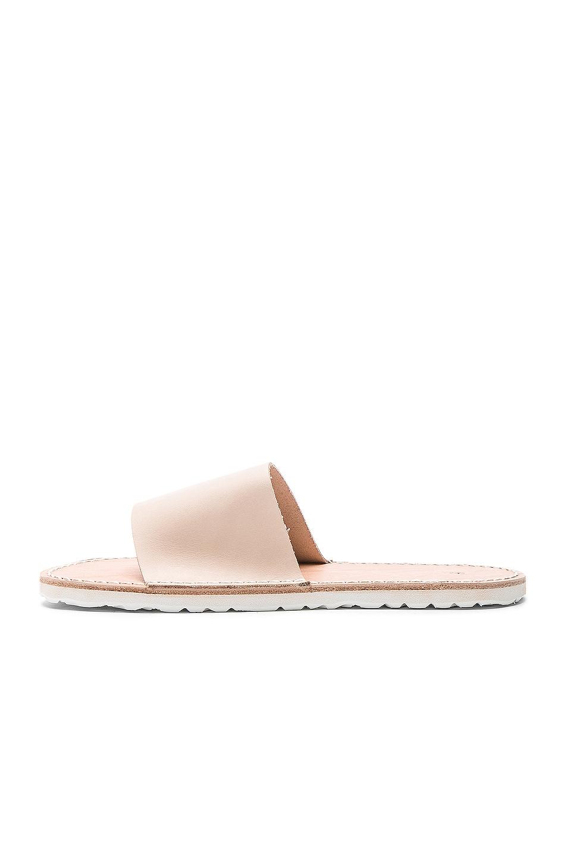 Image 5 of Hender Scheme Leather Slide Sandals in Natural