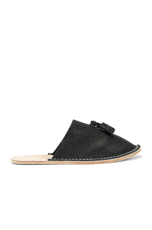 Image 1 of Hender Scheme Leather Slipper in Black