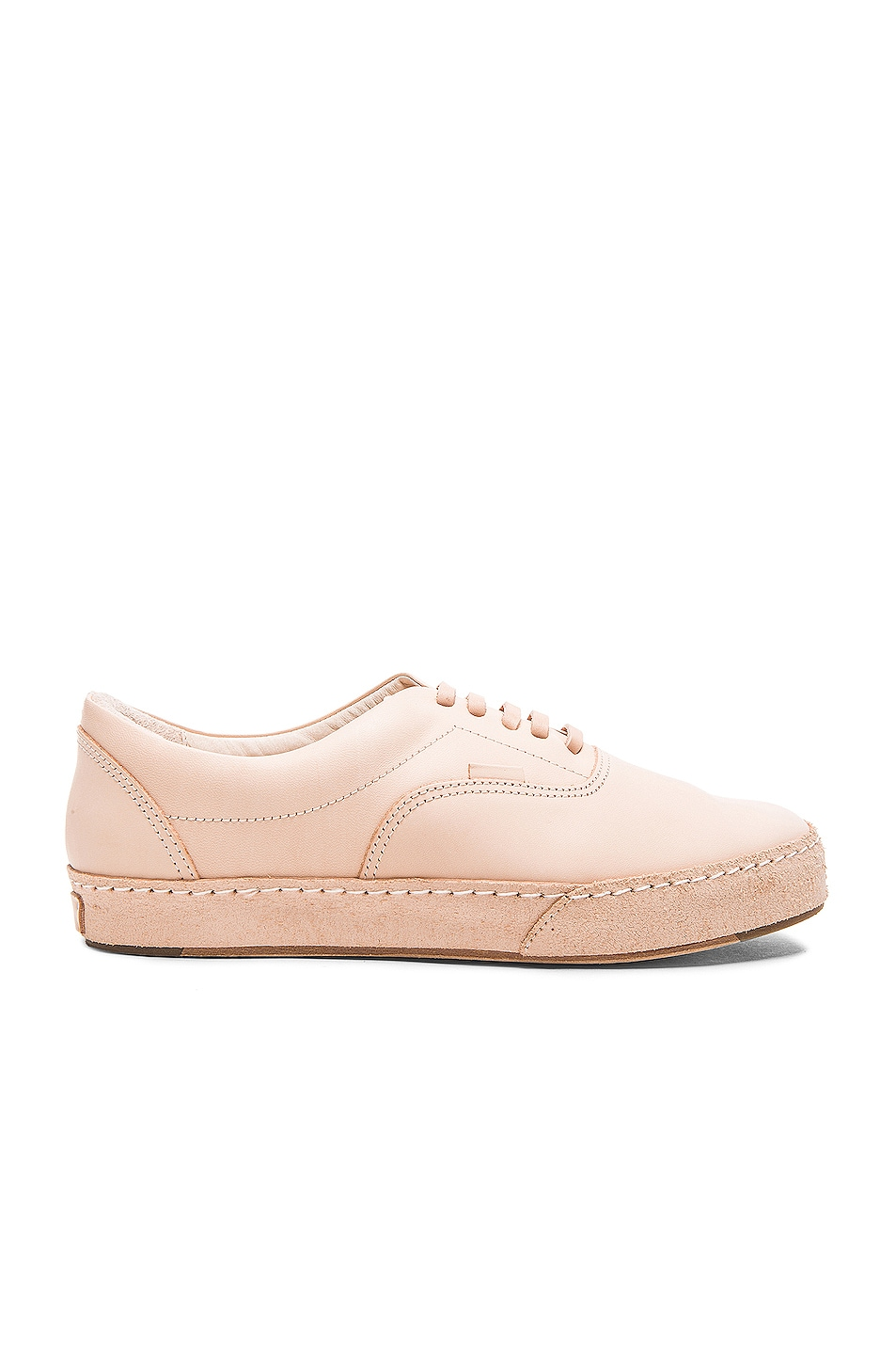 HENDER SCHEME Mip-04 Leather And Distressed Suede Sneakers in Neutrals