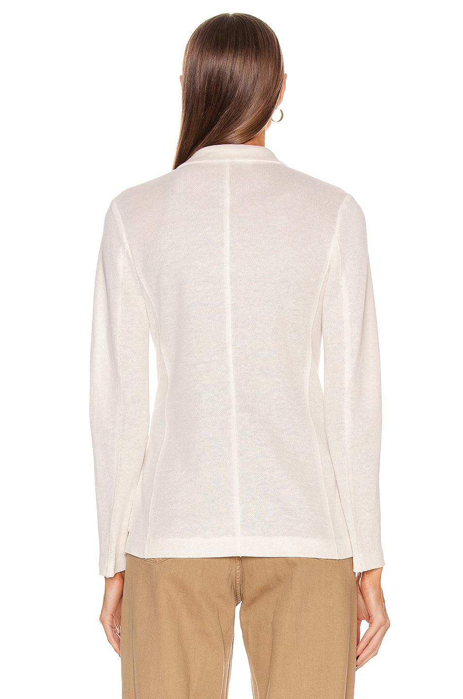 Image 4 of Harris Wharf London Peal Lapel Blazer Jacket in Off White