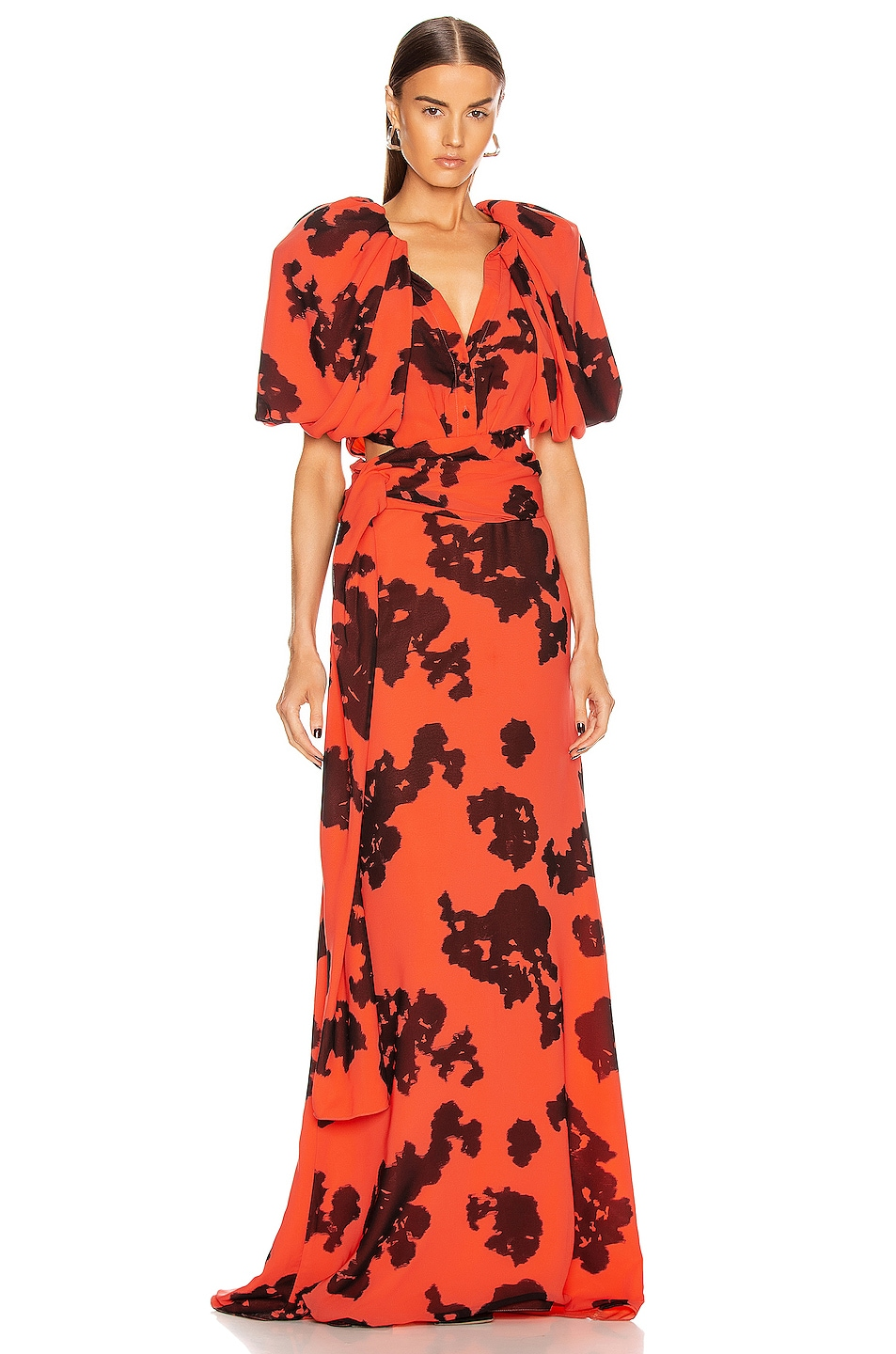 Image 1 of HELLESSY Indya Gown in Watermelon & Black