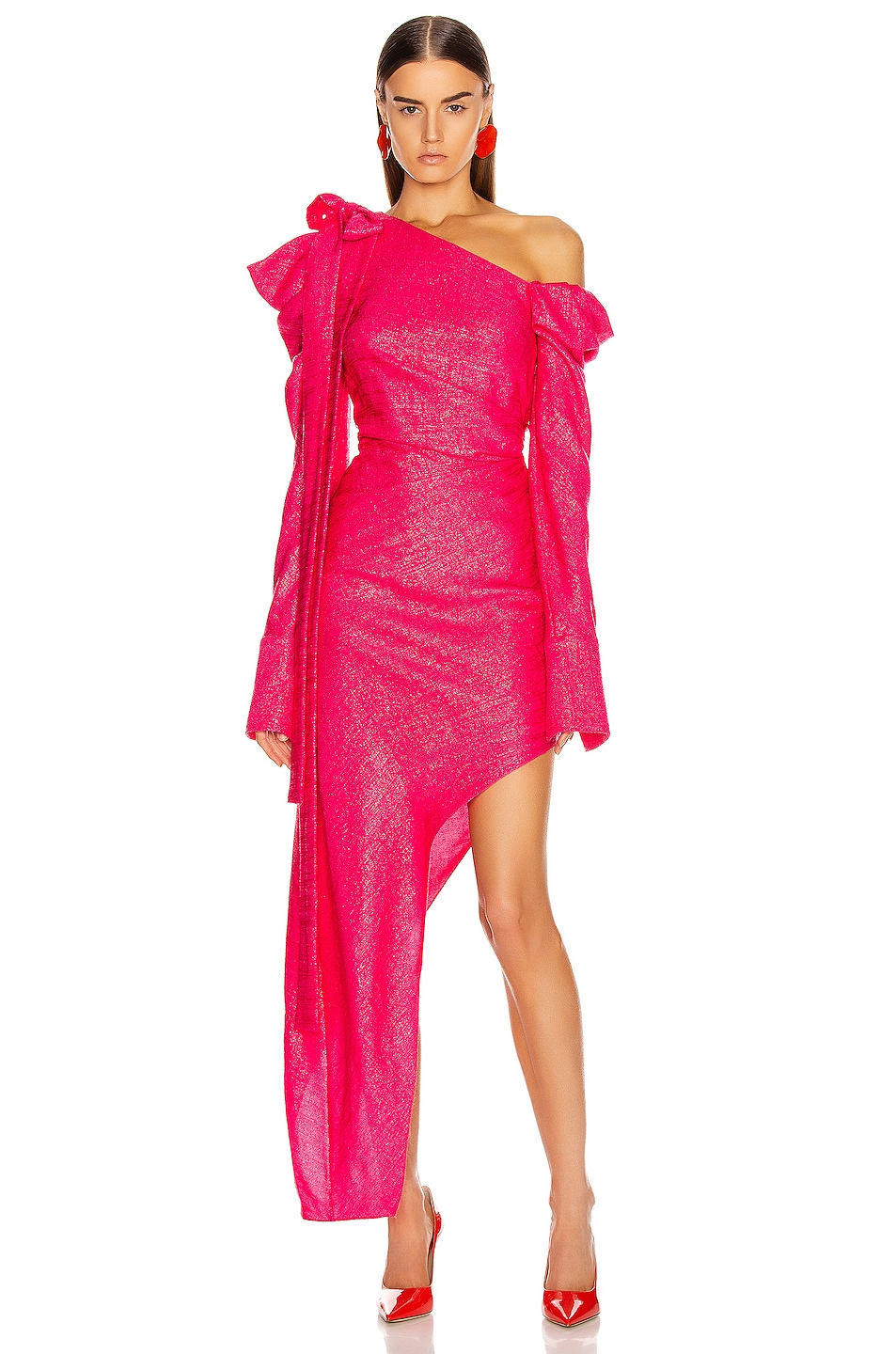 Image 1 of HELLESSY Loulou Dress in Shocking Pink