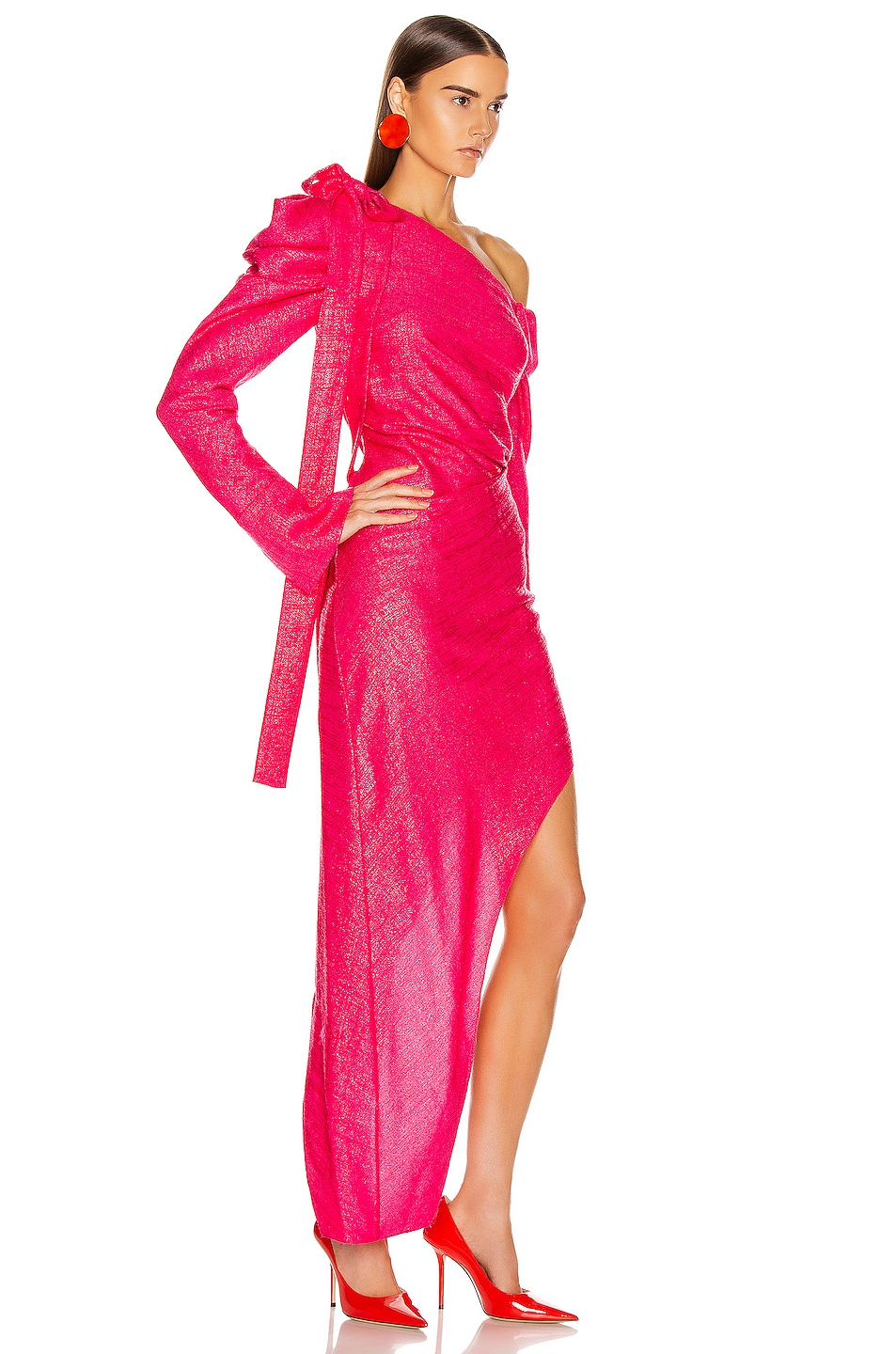 Image 2 of HELLESSY Loulou Dress in Shocking Pink