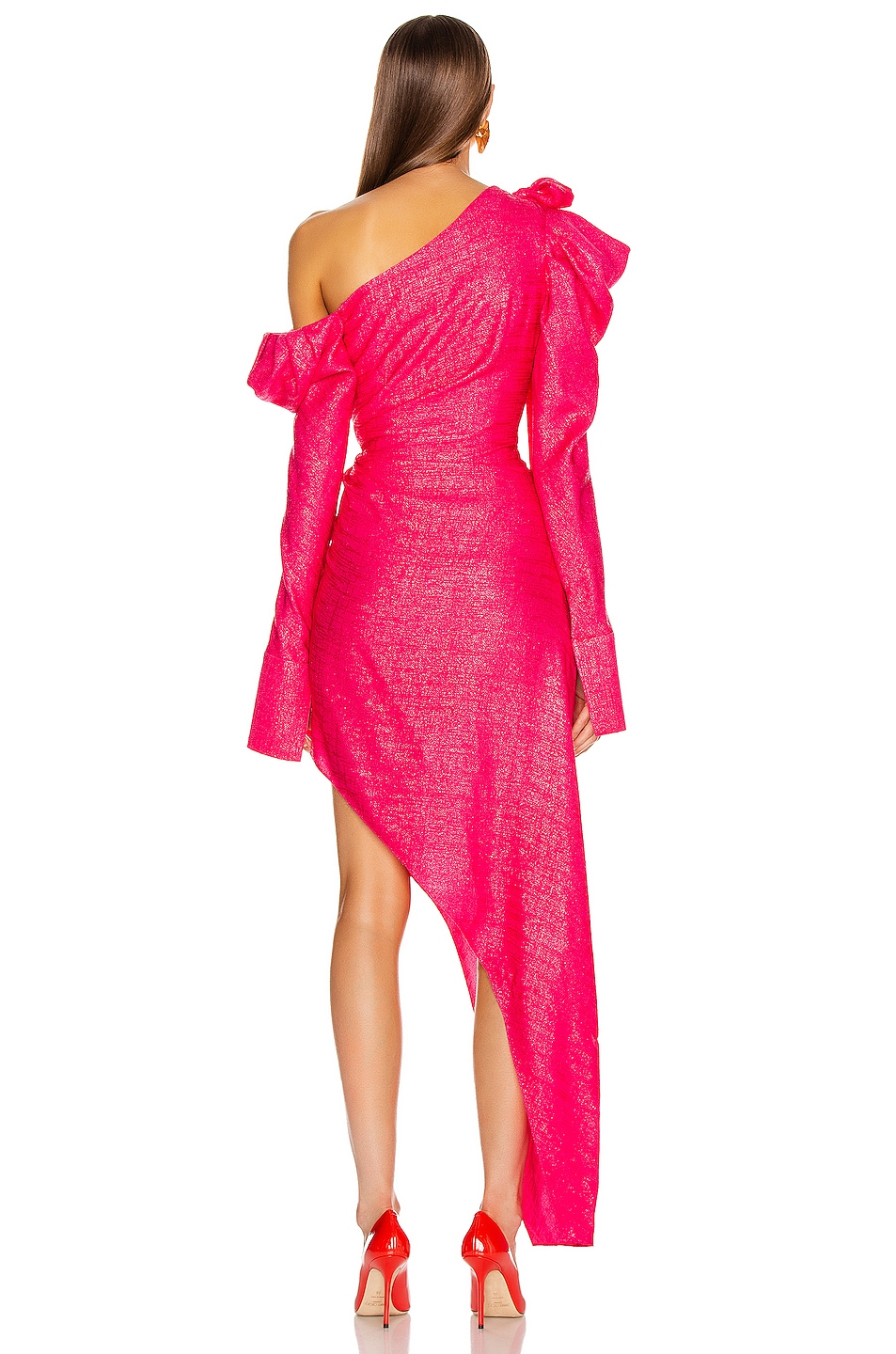 Image 4 of HELLESSY Loulou Dress in Shocking Pink