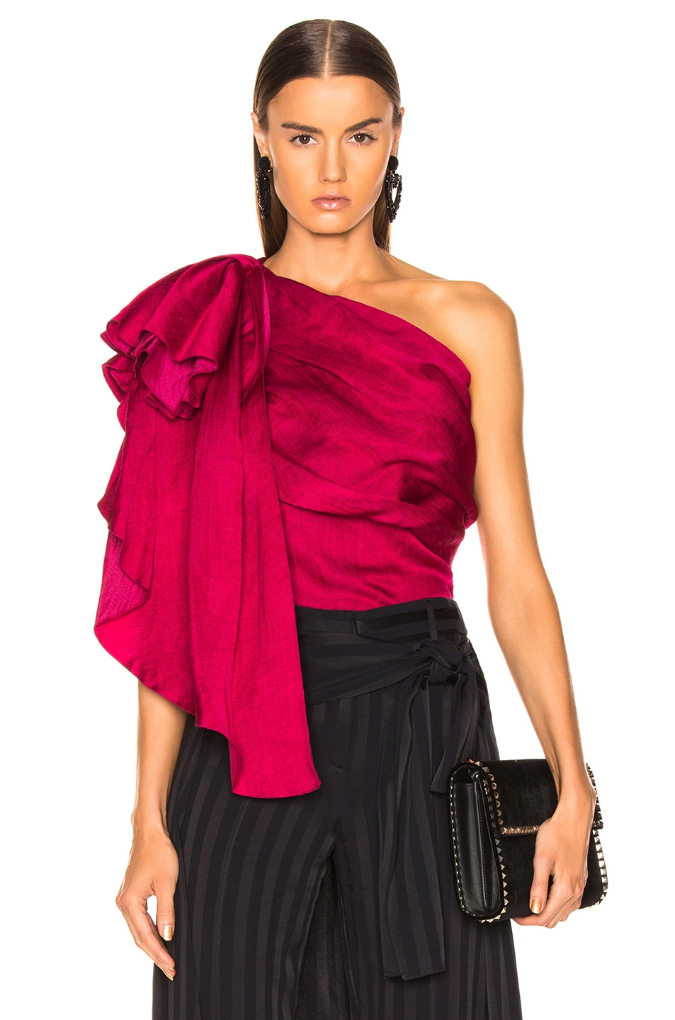 Image 1 of HELLESSY Waterfall Top in Raspberry