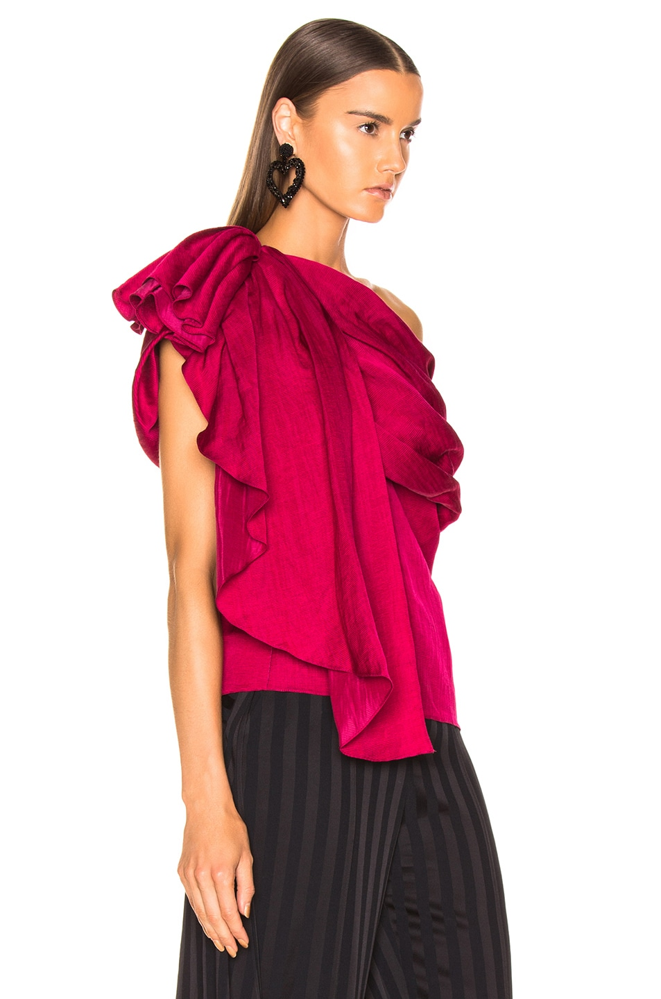 Image 2 of HELLESSY Waterfall Top in Raspberry