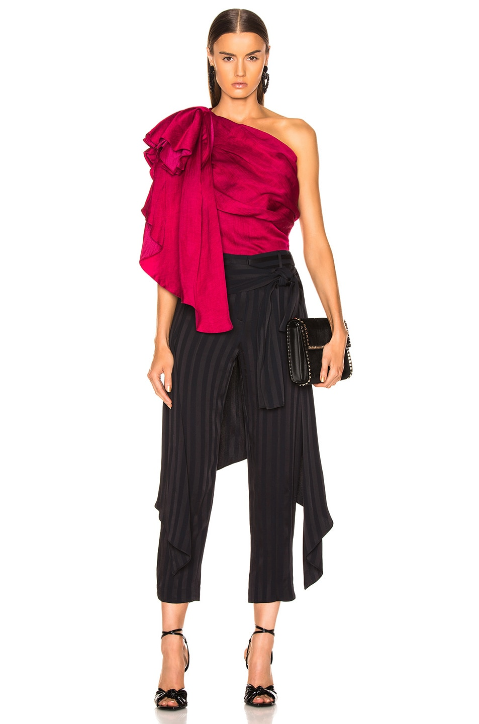 Image 4 of HELLESSY Waterfall Top in Raspberry